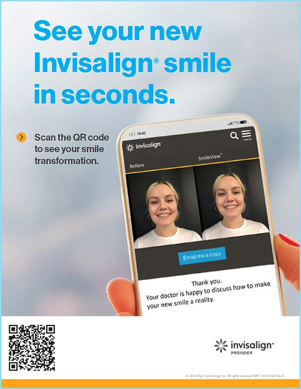Scan here to see your Invisalign smile makeover!